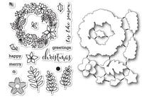 Memory Box Dies & Stamps Die Set - Christmas Botanicals