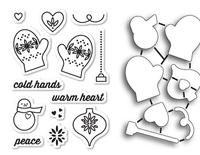 Memory Box Dies & Stamps Die Set - Warm Heart