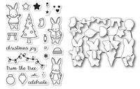 Memory Box Dies & Stamps Die Set - Holiday Bunnies