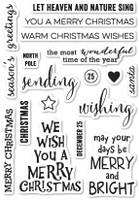 Memory Box Poppystamps Clear Stamps - Christmas Greetings