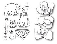 Memory Box Poppystamps Dies and Clear Stamps  Set  - Polar Bear Fun Clear