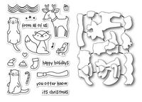 Memory Box Poppystamps Dies and Clear Stamps  Set  - Christmas Friends Clear