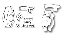 Memory Box Poppystamps Dies and Clear Stamps  Set  - Beary Christmas Clear