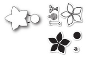 Memory Box Poppystamps Dies and Clear Stamps  Set  - Poinsettia Joy Clear