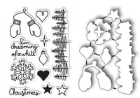 Memory Box Poppystamps Dies and Clear Stamps  Set  - Dreaming of a White Christmas