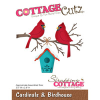 CottageCutz Die - Cardinals & Birdhouse