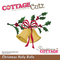 CottageCutz Die - Christmas Holly Bells