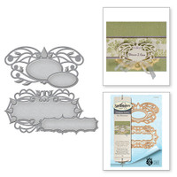 Spellbinders Shapeabilities Art Nuveau By Stacey Caron - Floral Swirls Tags