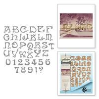 Spellbinders Shapeabilities Art Nuveau By Stacey Caron - Nouveau Font