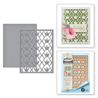 Spellbinders Card Creator Card Front - Floral Trellis