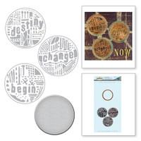 Spellbinders Stamp & Die By Seth Apter - Word Circles 1