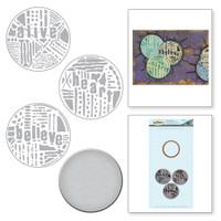 Spellbinders Stamp & Die By Seth Apter - Word Circles 2