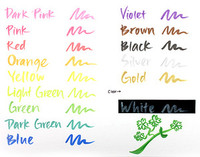 Wink of Stella Brush Tip Glitter Marker by Zig - Blue