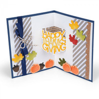 Sizzix Thinlits Die Set 6PK  by Stephanie Barnard - Happy Thanksgiving 3-D Drop-ins Sentiment