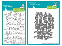 Lawn Fawn Clear Stamps & Dies - Winter Big Scripty Words