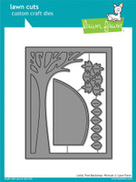 Lawn Cuts Custom Craft Die - Leafy Tree Backdrop:Portrait