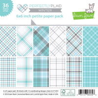"Lawn Fawn Petite Paper Pack 6""X6"" 36/Pkg, 6 Designs/6 Each - Perfectly Plaid Winter"