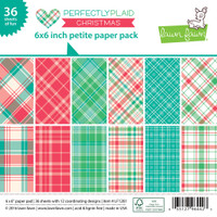 "Lawn Fawn Petite Paper Pack 6""X6"" 36/Pkg, 6 Designs/6 Each - Perfectly Plaid Christmas"