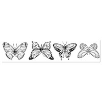 Stamperia High Definition Rubber Stamp - Butterflies