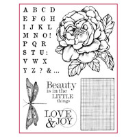 Stamperia High Definition Rubber Stamp - Peony