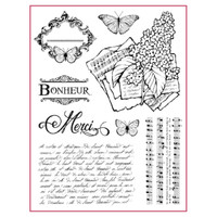 Stamperia High Definition Rubber Stamp - Lilac