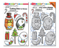 Stampendous Cling Stamps and  Dies Bundle - Winter Friends
