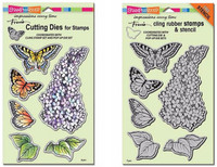 Stampendous Cling Stamps and  Dies Bundle - Lilac