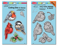 Stampendous Cling Stamps and  Dies Bundle - Winter Tweets