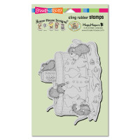 Stampendous Cling Stamp - Gingerbread Mice