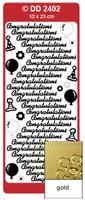 Doodey Peel Off Stickers -  Congratulations  (Gold)