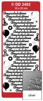 Doodey Peel Off Stickers -  Congratulations  (Silver)