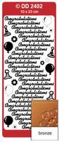 Doodey Peel Off Stickers -  Congratulations  (Bronze)
