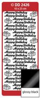 Doodey Peel Off Stickers -  Happy Birthday  (Glossy Black)