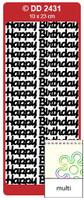 Doodey Peel Off Stickers -  Happy Birthday (Large)  (Multi-Color)