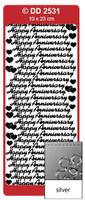 Doodey Peel Off Stickers -  Happy Anniversary  (Silver)