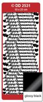 Doodey Peel Off Stickers -  Happy Anniversary  (Glossy Black)