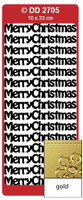 Doodey Peel Off Stickers -  Merry Christmas  (Gold)
