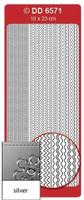 Doodey Peel Off Stickers -  Frames Multi Wave  (Silver)