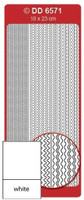 Doodey Peel Off Stickers -  Frames Multi Wave  (White)