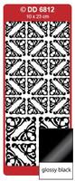 Doodey Peel Off Stickers -  Yvonne Corners (Glossy Black)