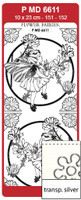 Doodey Peel Off Stickers - Flower Fairies Chicory (Transparent Silver)