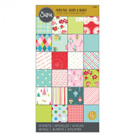 """Sizzix Paper - 6"""" x 12"""" Cardstock Pad, 48 Sheets - Merry & Bright"""