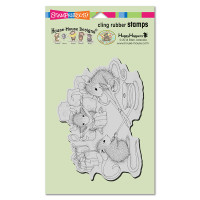 Stampendous Cling Rubber Stamp - Cheese Wrappers