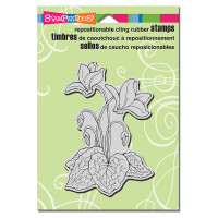 Stampendous Cling Rubber Stamp - Cyclamen
