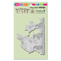 Stampendous Cling Rubber Stamp - Tag Along Trio