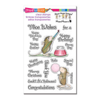Stampendous Perfectly Clear Stamps Set  - Painted Wishes