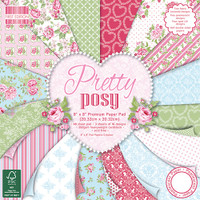 "Trimcraft's First Edition Premium Paper Pad 8""X8"" 48/Pkg, 16 Designs - Pretty Posy"
