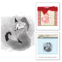 Spellbinders Stamps - Holiday 3D Shading Stamps - Winter Fox