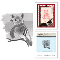 Spellbinders Stamps - Holiday 3D Shading Stamps - Winter Owl