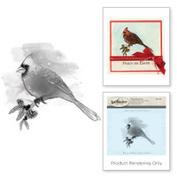 Spellbinders Stamps - Holiday 3D Shading Stamps - Cardinal
